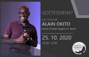 Gottesdienst mit Pastor Alain Okito
