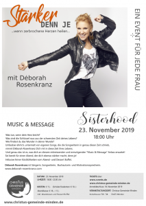 Sisterhood - Music & Message mit Déborah Rosenkranz